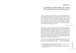 Szuverenitás-koncepciók a 20. század első felének magyar jogirodalmában 1