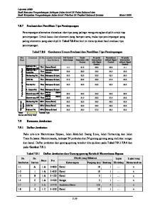 Tabel Gambaran Umum Evaluasi dan Pemilihan Tipe Persimpangan. Grade Separation with Access. Full Control Interchange