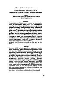 TAFSIR MARXISME ATAS AJARAN ISLAM (Analisis Kritik M. Imarah Terhadap Pendekatan Nasr Hamid)