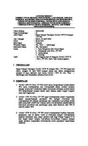 Tahun Sidang : Masa Persidangan : IV : Rapat Dengar Pendapat Komisi I DPR RI dengan LPP RRI Hari, Tanggal : Senin, 20 April 2009
