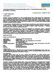 Takarékszövetkezeti számlacsomaghoz élet- és balesetbiztosítás (TÉB) Szerződési Feltételei