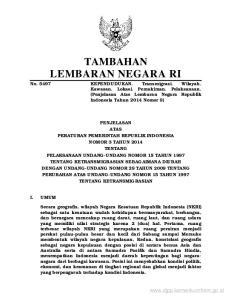 TAMBAHAN LEMBARAN NEGARA RI