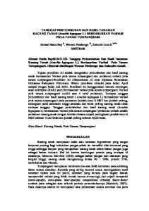 TANGGAP PERTUMBUHAN DAN HASIL TANAMAN KACANG TANAH (Arachis hypogeae L ) BERDASARKAN VARIASI POLA TANAM TUMPANGSARI