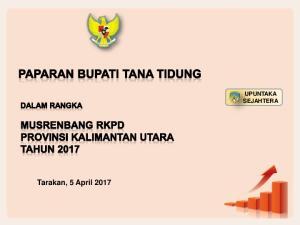 Tarakan, 5 April 2017 UPUNTAKA SEJAHTERA