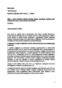 Tárgy: Forrás Közösségi Központ Szolgálat kérelme, hozzájáruló nyilatkozat házi segítségnyújtás, illetve szociális étkeztetés biztosításához