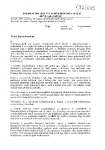 Tárgy: Javaslat a Vagyonrendelet módosítására