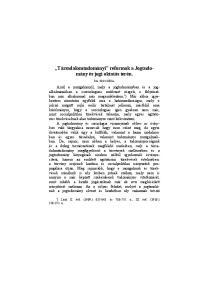 Társadalomtudományi reformok a Jogtudomány és jogi oktatás terén
