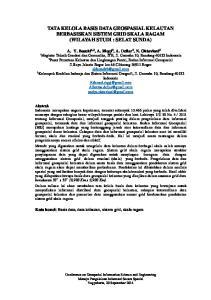 TATA KELOLA BASIS DATA GEOSPASIAL KELAUTAN BERBASISKAN SISTEM GRID SKALA RAGAM (WILAYAH STUDI : SELAT SUNDA)
