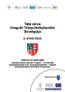 Tata város Integrált Településfejlesztési Stratégiája