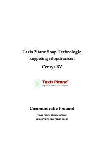 Taxis Pitane Soap Technologie koppeling ritopdrachten. Censys BV