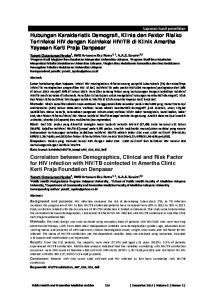 TB coinfected in Amertha Clinic Kerti Praja Foundation Denpasar