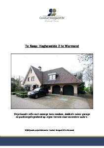 Te Koop: Hagheweide 2 te Warmond