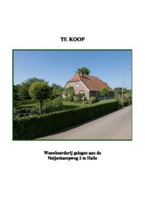 TE KOOP Woonboerderij gelegen aan de Neijenkampweg 2 te Halle