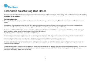 Technische omschrijving Blue Roses