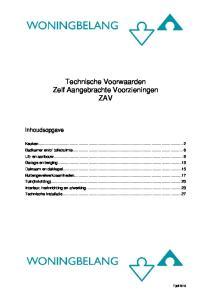 Technische Voorwaarden Zelf Aangebrachte Voorzieningen ZAV