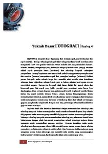 Teknik Dasar FOTOGRAFI Keping 4