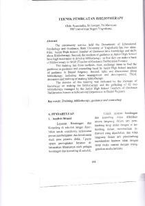 TEKNIK PEMBUATAN BIBLIOTHERAPY. Oleh: Syamsudin, Sri Iswanti, Tri Marsiyati FIP Universitas Negeri Yogyakarta. Layanan Bimbingan dan