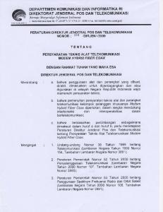 TENTANG. Undang-undang Nomor 36 Tahun 1999 tentang Telekomunikasi (Lembaran Negara Tahun 1999 Nomor 154, Tambahan Lembaran Negara Nomor 3881);