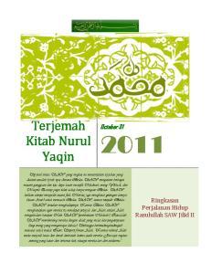 Terjemah Kitab Nurul Yaqin