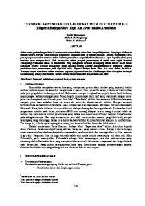 TERMINAL PENUMPANG PELABUHAN UMUM DI KOLONODALE (Ekspresi Budaya Mori Tepo Asa Aroa dalam Arsitektur)