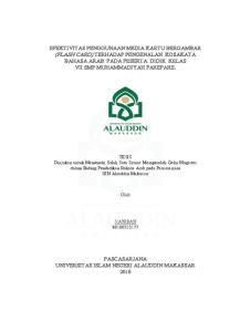 TESIS Diajukan untuk Memenuhi Salah Satu Syarat Memperoleh Gelar Magister dalam Bidang Pendidikan Bahasa Arab pada Pascasarjana UIN Alauddin Makassar