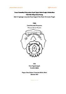 TESIS Untuk Memenuhi Persyaratan Mencapai Derajat Magister. Program Studi Ilmu Komunikasi Konsentrasi Manajemen Komunikasi