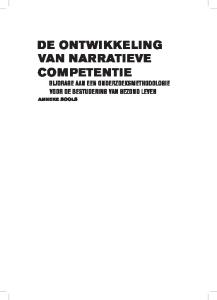 The Development Of Narrative Competence Towards A Research