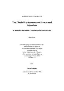 The Disability Assessment Structured Interview