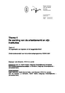 Thema 4 De werking van de arbeidsmarkt en zijn instituties