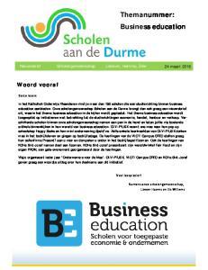 Themanummer: Business education