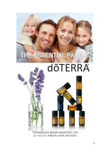 Therapeutic-grade essential oils a natural health care solution