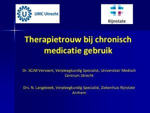 Therapietrouw bij chronisch medicatie gebruik