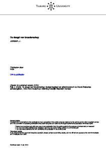Tilburg University. De deugd van broederschap Janssen, J. Publication date: Link to publication