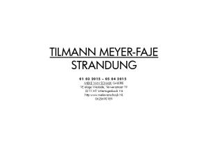TILMANN MEYER-FAJE STRANDUNG