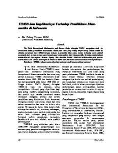 TIMSS dan Implikasinya Terhadap Pendidikan Matematika