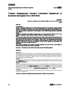 Tinjauan Histopatologik Penyakit Trofoblastik Gestasional di Sumatera Utara pada Tahun