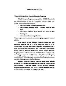 TINJAUAN PUSTAKA Wilayah Administratif dan Geografis Kabupaten Tangerang