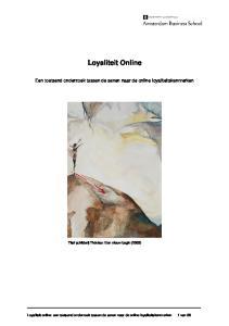 Titel schilderij Thérèse: Een nieuw begin (2005) Loyaliteit online: een toetsend onderzoek tussen de sexen naar de online loyaliteitskenmerken