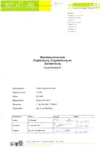 Titel : Wandelpromenade Prattenburg, Engelenburg en Sandenburg INHOUDSOPGAVE. 1 INLEIDING Omschrijving kunstwerk Leeswijzer