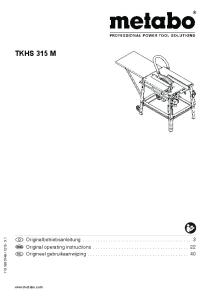 TKHS 315 M. Originalbetriebsanleitung... 3 Original operating instructions Origineel gebruikaanwijzing _31_1v5IVZ