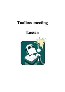 Toolbox-meeting Lassen