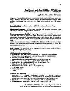 Total Arsenic pada Thin Gold Film PDV6000 plus Methode Perbandingan Standard untuk sample air PDV6000 plus