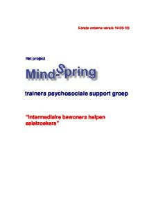 trainers psychosociale support groep