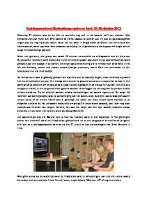 Trainingsweekend Blankenberge sprint en fond: oktober 2012