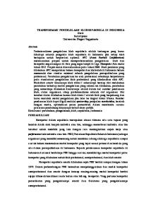 TRANSFORMASI PENGELOLAAN KLUB SEPAKBOLA DI INDONESIA Oleh: Sulistiyono Universitas Negeri Yogyakarta