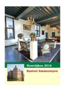 Trouwen op kasteel Ammersoyen
