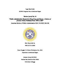 Tugas Mata Kuliah. SON101 Pengantar Ilmu Administrasi Negara