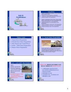Tujuan Pengendalian 1. Keamanan (safety) 2. Batasan Operasional (Operability) 3. Ekonomi Pengendalian keamanan (safety) reaktor eksotermis isu-isu lin