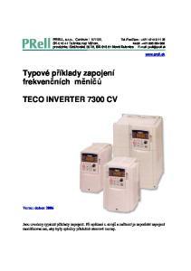 Typové příklady zapojení frekvenčních měničů TECO INVERTER 7300 CV. Verze: duben 2006