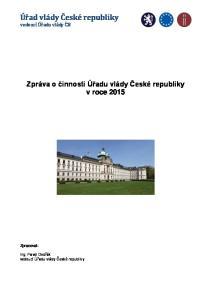 Úřad vlády České republiky vedoucí Úřadu vlády ČR
